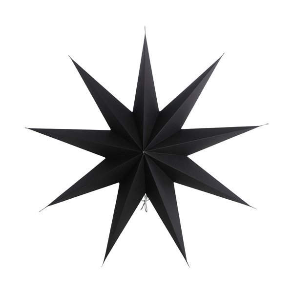 Large Star Decoration in Black