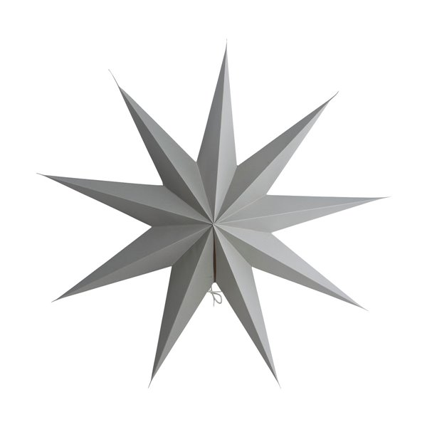 Large Star Decoration in Grey