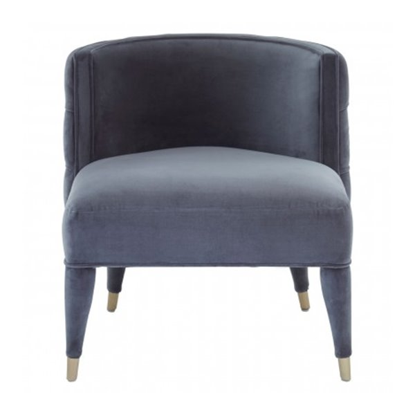 Lilly Grey Button Back Chair