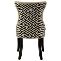 Linen and Trellis Back Dining Chair Image
