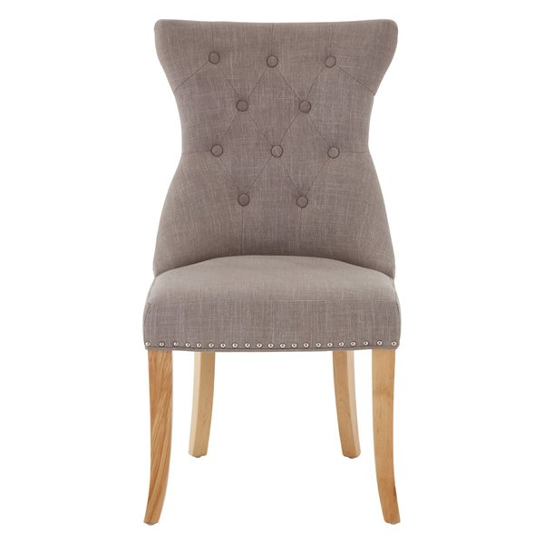 Mink Linen Ring Back Dining Chair