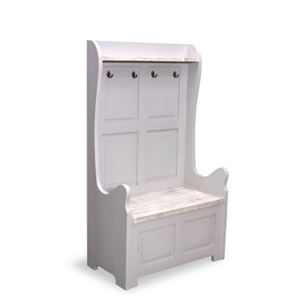 Monks Bench High Back 2 Seater with storage