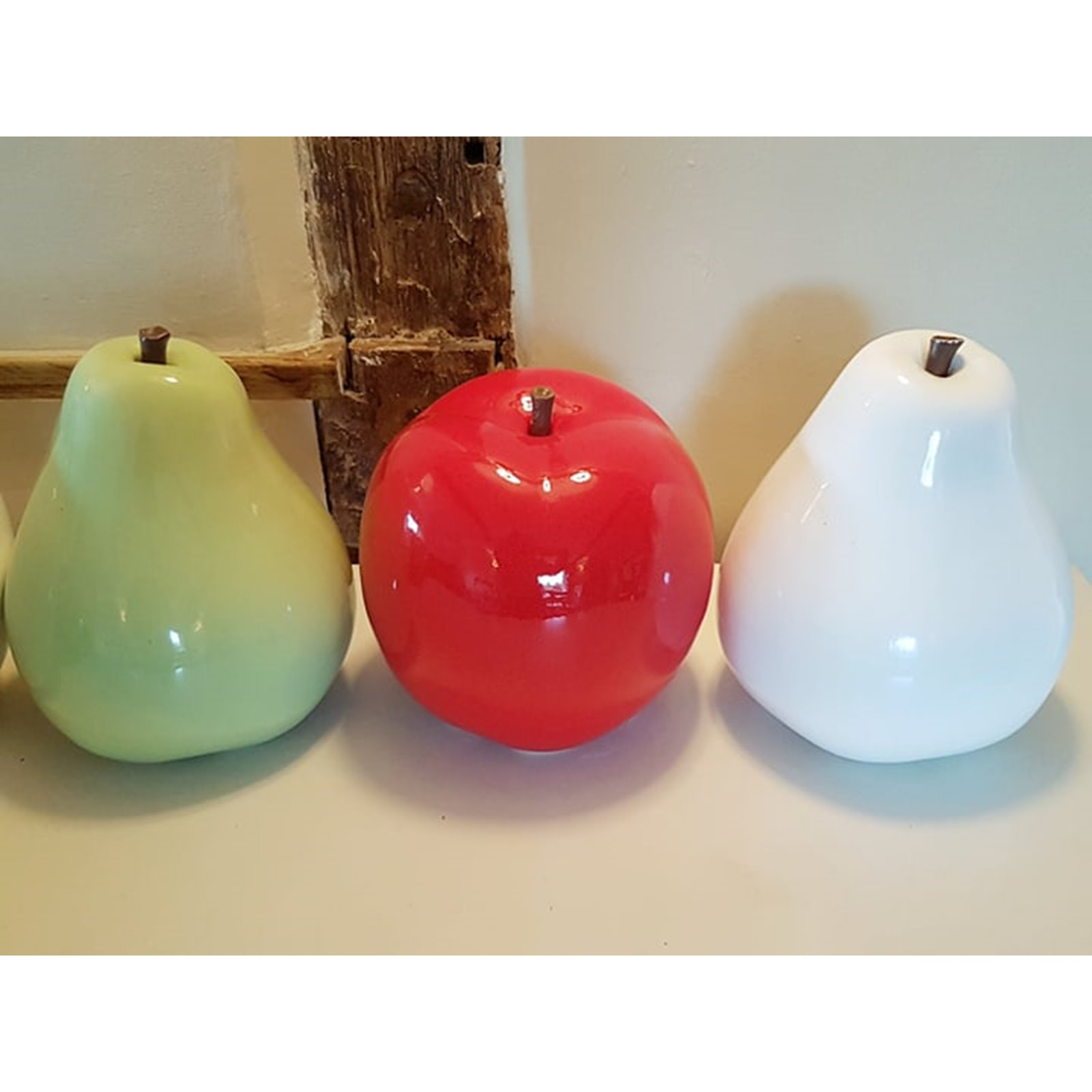 Oversized Ceramic White Apple Image