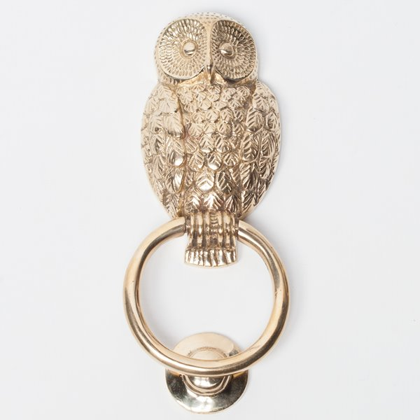 Owl Brass Door Knocker