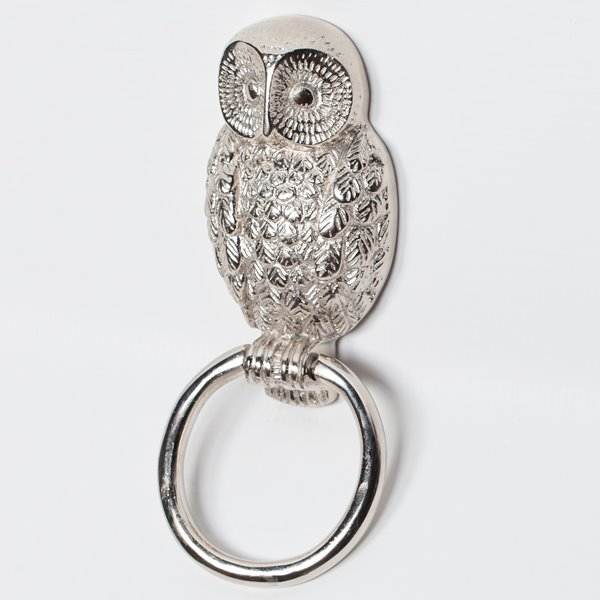 Owl Silver Door Knocker