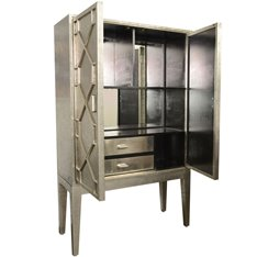 Silver hand embossed bar cabinet Image