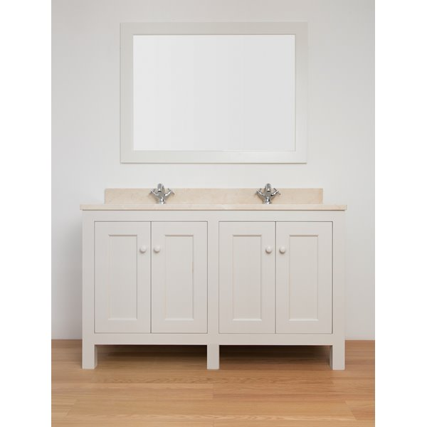 Sitting Pretty Double Vanity Unit with Doors