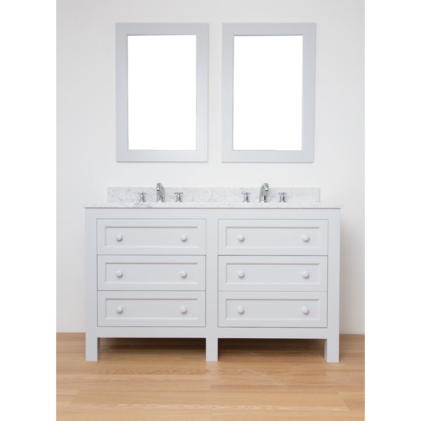 Sitting Pretty Double Vanity Unit with Drawers