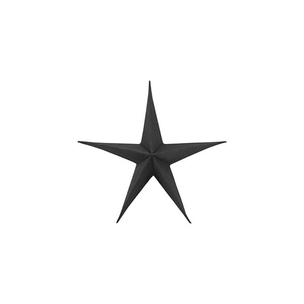 Star Decoration in Black Small