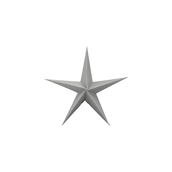 Star Decoration in Grey Small