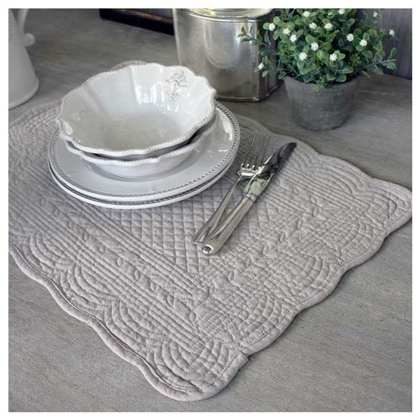 Stone quilted placemat set of 2