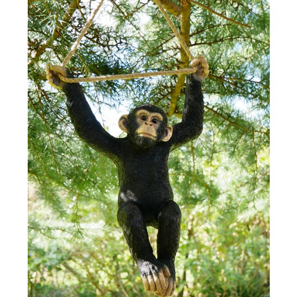 Swinging Baby Monkey Garden Ornament