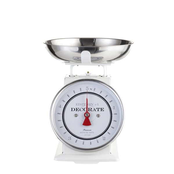 Traditional Kitchen Scale White