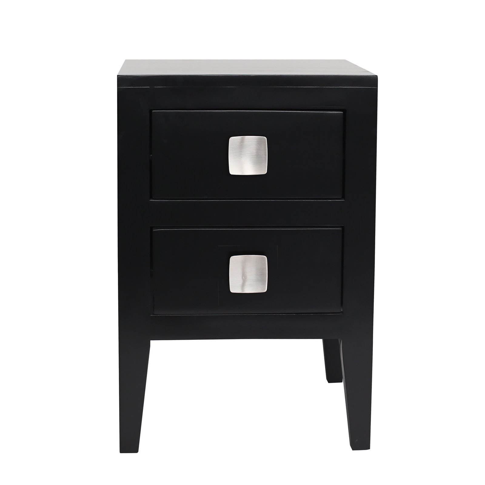 Turnbury 2 Drawer Bedside in Black  Image