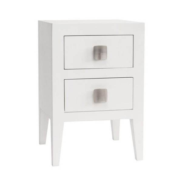 Turnbury 2 Drawer Bedside in White