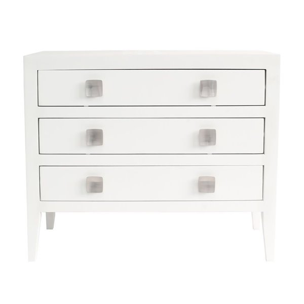 Turnbury 3 Drawer Chest of Drawers White