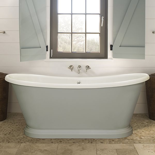 Victorian Style Double Ended Boat Bath