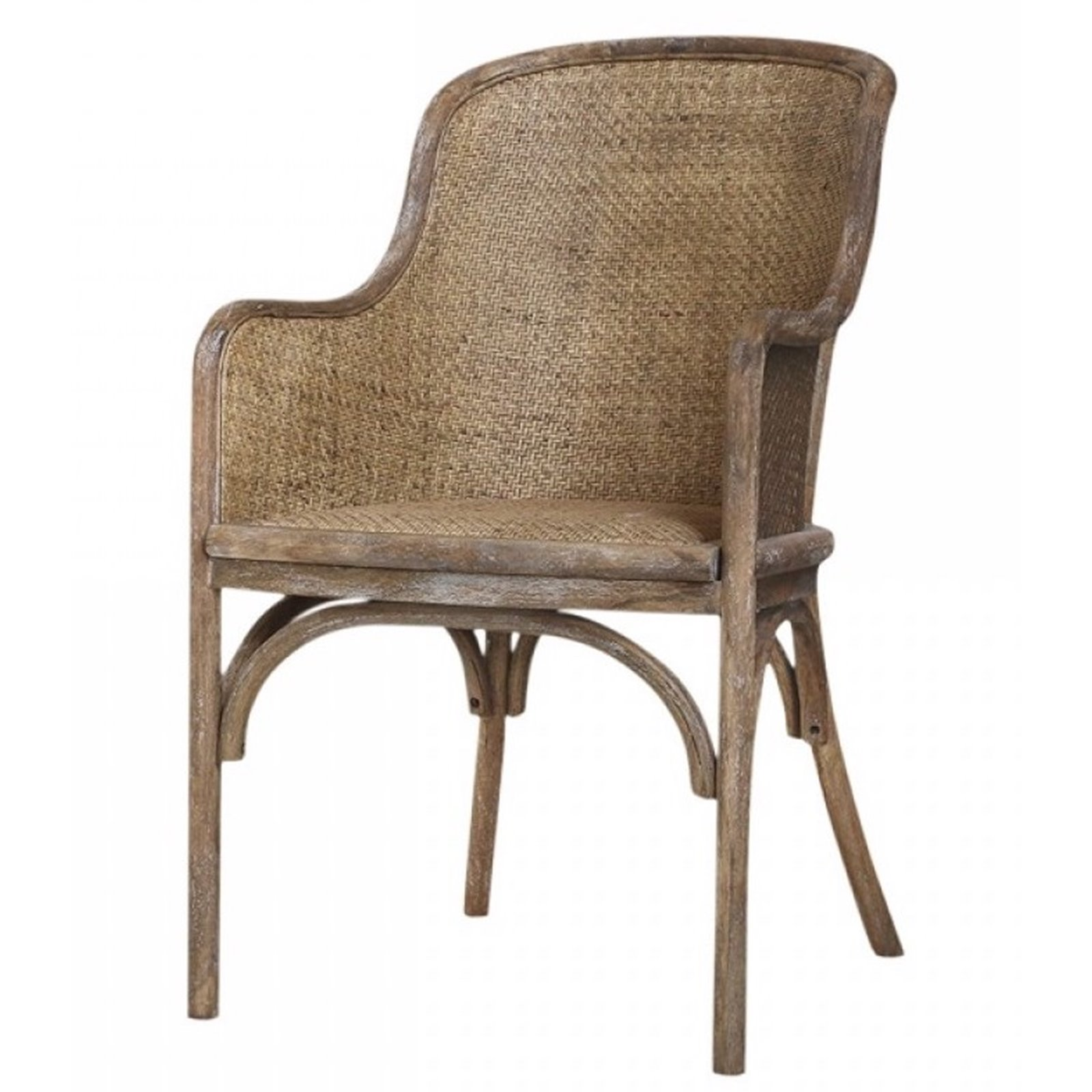 Picture of: Wicker Back Carver Dining Chair