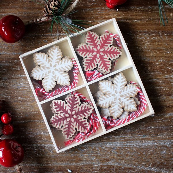 Wooden Snowflake Christmas Decorations
